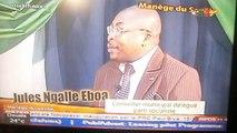 """Dr Mathieu MBARGA-ABEGA, présente pour le compte de la CRTV """"Manège du Savoir"""" de Jules Ngalle EBOUA, élu socialiste en France."""