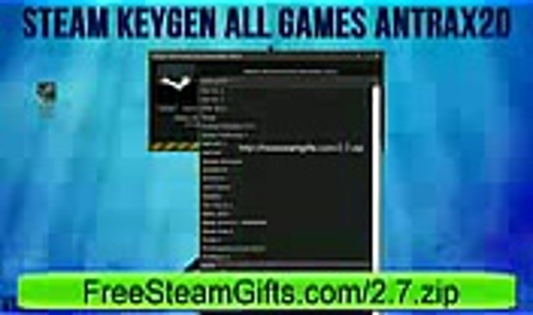 STEAM KEY GENERATOR 2014 ALL GAMES 2014 DIRECT DOWNLOAD FREE HD January 2014 - YouTube_3