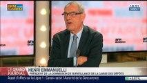 Henri Emmanuelli, président de la commission de surveillance de la Caisse des dépôts et consignations, et député PS des Landes, dans Le Grand Journal - 18/03 4/4