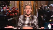 Miley Cyrus Sings Wrecking ball and We can't stop Live  Snl - Kas take / Review - Snl - Miley Cyrus