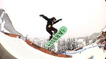 Crazy young riders at the Volcom Stones Peanut Butter and Rail Jam