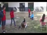 The biggest chair FAIL! The girl jumps and fall! Hilarious
