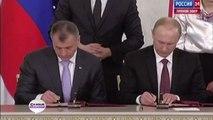 Crimée : Poutine signe le rattachement à la Russie