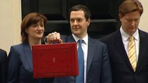 Chancellor leaves 11 Downing Street with red budget box