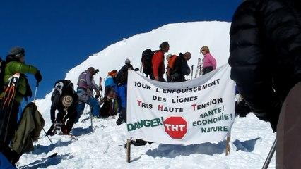 Rassemblement contre le projet de RTE au sommet de la Tête du Fouran