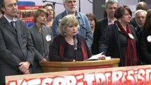 """Meeting 18 mars 2014 """" Villeneuve à Gauche """" - Sylvie Altman, Maire de Villeneuve-Saint-Georges, tête de liste """"Villeneuve à Gauche"""""""