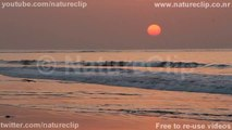 Waves at sunet HD slow motion - Free stock footage