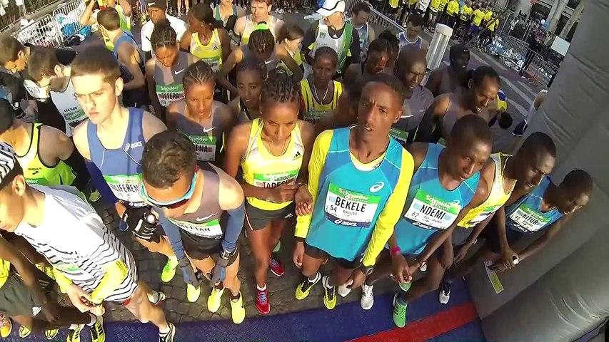 Départ - Schneider Electric Marathon de Paris 2013