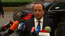 Déclaration de François Hollande lors de son arrivée au Conseil européen #euco