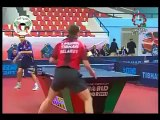 The most amazing trick shot ever seen in table tennis