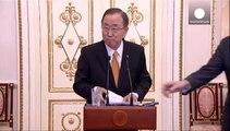 Ban Ki-moon reçu à Moscou par Vladimir Poutine