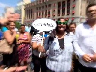 Geraldo Luís tenta realizar sonho de uma Geraldete no Domingo Show