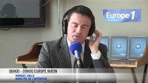 Manuel Valls au micro d'Europe 1