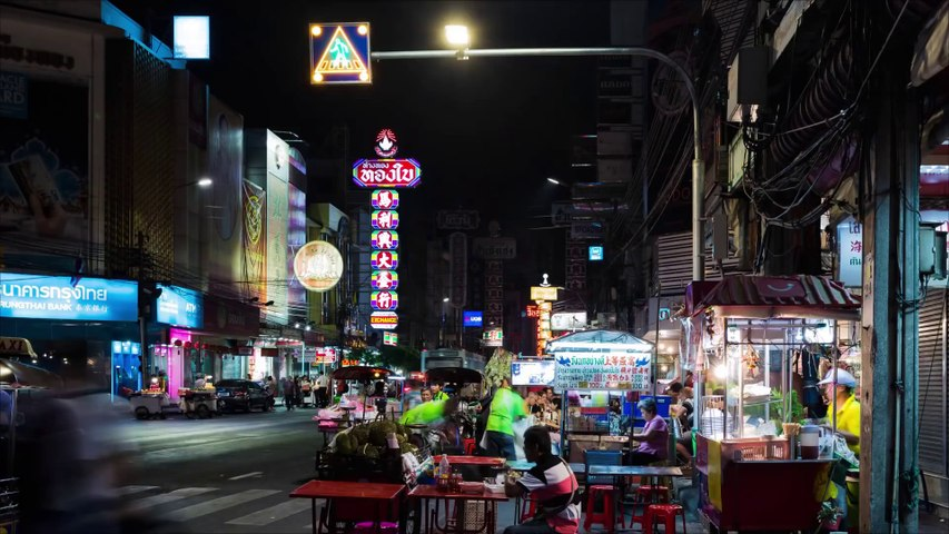 Bangkok by night - Timelapse HD