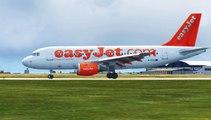 FSX Easyjet Airbus A319 Landing @ Leeds Bradford RWY 32 ( HD )