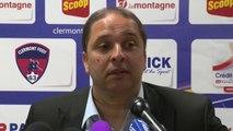 Conférence de presse Clermont Foot - AS Nancy-Lorraine (1-0) : Régis BROUARD (CF63) - Pablo  CORREA (ASNL) - 2013/2014