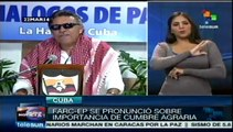 FARC reiteran importancia de Cumbre Agraria en Colombia
