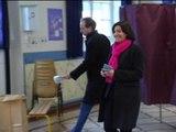 Municipales 2014: la candidate PS Anne Hidalgo a voté - 23/03