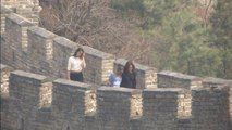 US First Lady Michelle Obama visits Great Wall of China