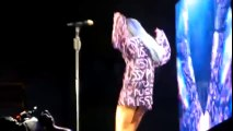 Rihanna Scantily Clad in Concert