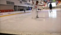 Violent Faceplant in ice skating... Headshot!