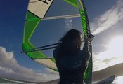 First Up, First Down: Bryony Shaw windsurfing off the West Coast of Ireland
