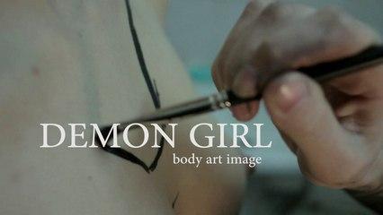 Demon Girl body art image