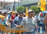 Trabajadores del sector judicial de Tacna acatan paro