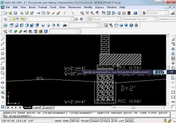 Simple project in AutoCAD Part 8 oh