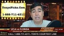 Florida Gators vs. UCLA Bruins Pick Prediction NCAA Tournament College Basketball Odds Preview 3-27-2014