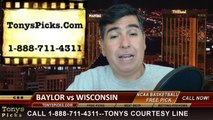 Wisconsin Badgers vs. Baylor Bears Pick Prediction NCAA Tournament College Basketball Odds Preview 3-27-2014