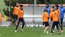 Today Real Madrid Training Cristiano Ronaldo Sergio Ramos Benzema Pepe Xabi Bale