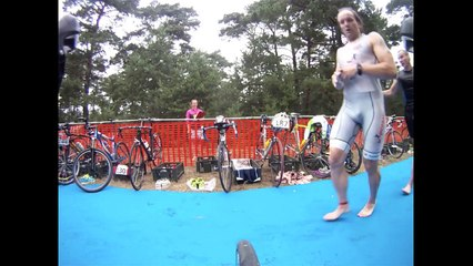 Triathlon race from bike point of view