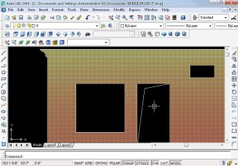 Simple project in AutoCAD Part 13 oh