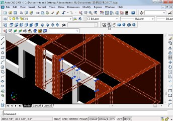 Simple project in AutoCAD Part 16 oh