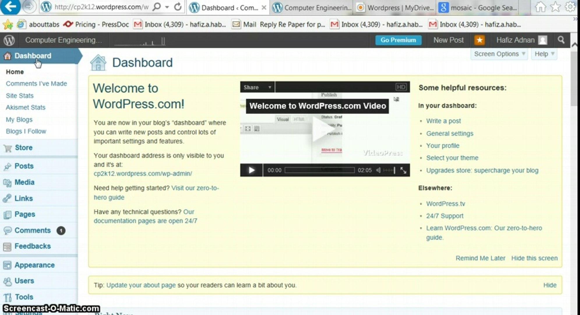Wordpress Tutorials part 9