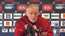 Coach Francis en conf' avant Nantes