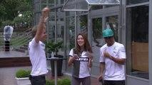Entertaining in Kuala Lumpur - Lewis Hamilton driving RC Car
