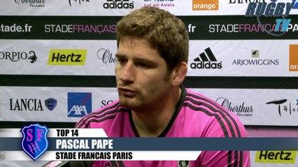 TOP 14 avant match - Stade Français-Racing Métro 92 - Pascal Pape-Nivolas Sylvain-Gonzalo Quesada