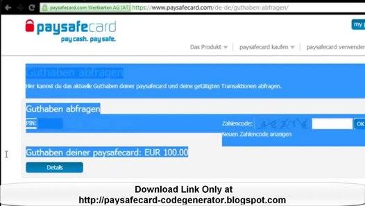 1€ Paysafecard Gratis