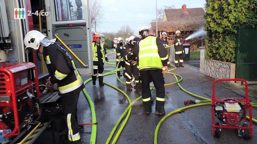 Polizei und Feuerwehr retteten Pensionisten aus brennendem Haus (HD)