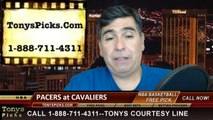 Cleveland Cavaliers vs. Indiana Pacers Pick Prediction NBA Pro Basketball Odds Preview 3-30-2014