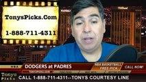 San Diego Padres vs. LA Dodgers Pick Prediction MLB Odds Preview 3-30-2014