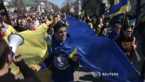 Thousands join anti-Russian march in Odessa