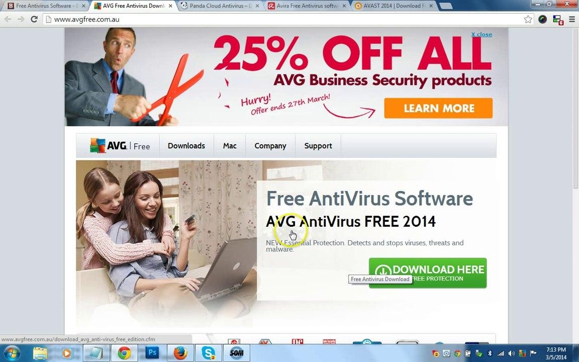 Top 5 Free Antivirus Software Download|Best Free Antivirus Software|AVG  Free Edition