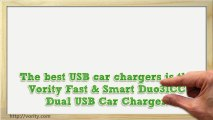 Vority Dual USB Car Charger 3.1Amp 15.5W (Black and White)