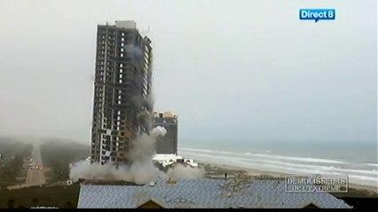 Ocean Tower Implosion - Different cam angles (Blowdown / Démolisseurs de l'extrême) 2009
