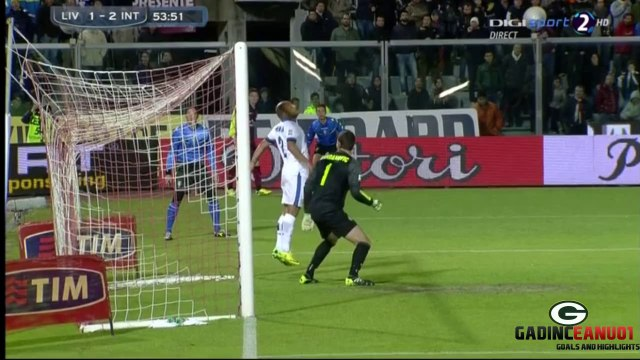 AWESOME GOAL Paulinho vs Inter Milano ~ Livorno vs Inter Milano 1-2 ~ SERIE A [31/03/2014]