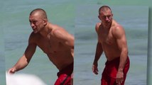 Georges St-Pierre Takes His Torn ACL to the Beach