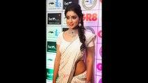 Hot Shriya Saran White Transparent Saree Navel Show at Dubai